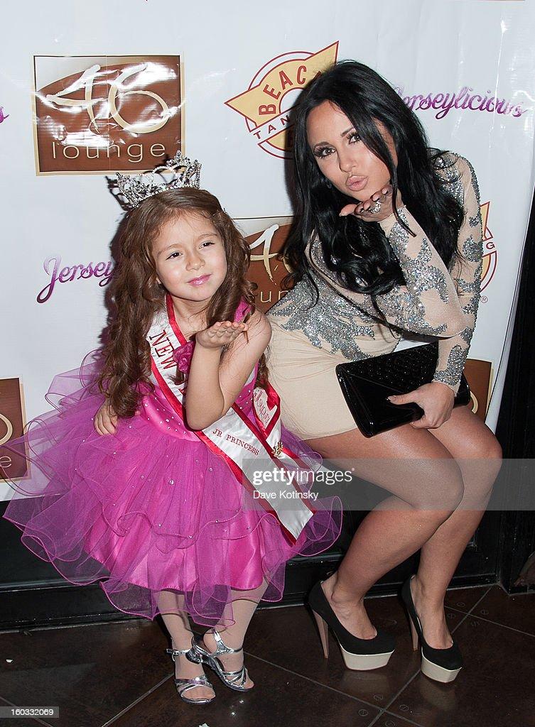 Olivia Blois Sharpe and Angelina Diamond attend at the 'Jerseylicious' Season 5 Premiere Celebration at 46 Lounge on January 28, 2013 in Totowa City.