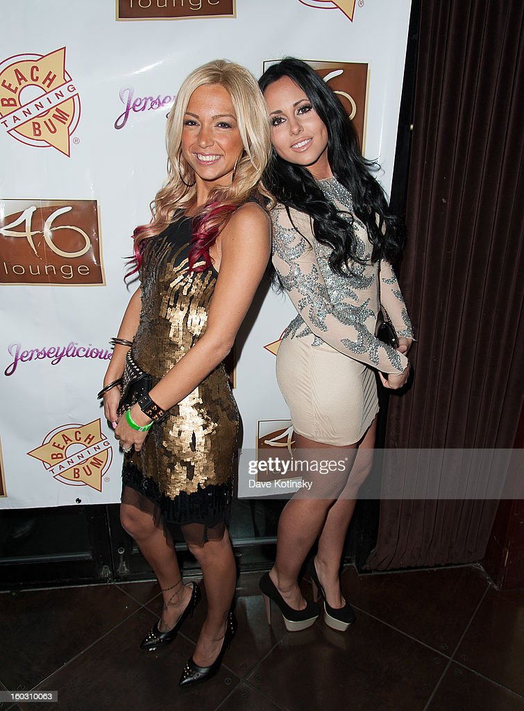 Olivia Blois Sharpe and Jackie N Carmelo Bianchi attends 'Jerseylicious' Season 5 Premiere Celebration at 46 Lounge on January 28, 2013 in Totowa City.