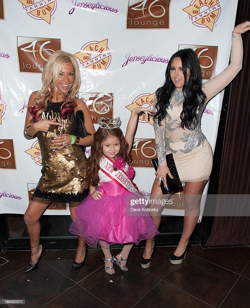 Olivia Blois Sharpe, Angelina Diamond and Jackie N Carmelo Bianchi attend 'Jerseylicious' Season 5 Premiere Celebration at 46 Lounge on January 28, 2013 in Totowa City.