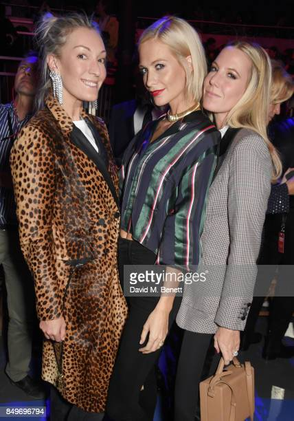 Olivia Buckingham Poppy Delevingne and Alice Naylor Leyland attend the Tommy Hilfiger TOMMYNOW Fall 2017 Show during London Fashion Week September...