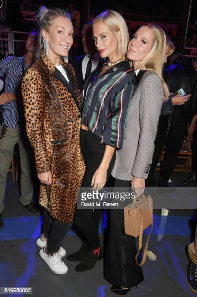 Olivia Buckingham Poppy Delevingne and Alice NaylorLeyland attend the Tommy Hilfiger TOMMYNOW Fall 2017 Show during London Fashion Week September...