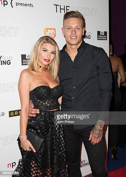 Olivia Buckland and Alex Bowen arrive for the film premiere of 'The Intent' at Cineworld Haymarket on July 25 2016 in London England