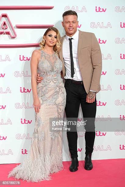 Olivia Buckland and Alex Bowen attend the ITV Gala at London Palladium on November 24 2016 in London England