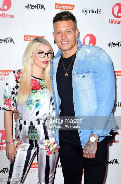 Olivia Buckland and Alex Bowen attend the launch for the new season of Britain's Next Top Model at the Village Underground London