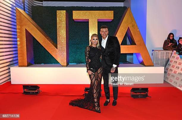 Olivia Buckland and Alex Bowen attend the National Television Awards on January 25 2017 in London United Kingdom