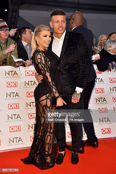 Olivia Buckland and Alex Bowen attending the National Television Awards 2017 at the O2 London