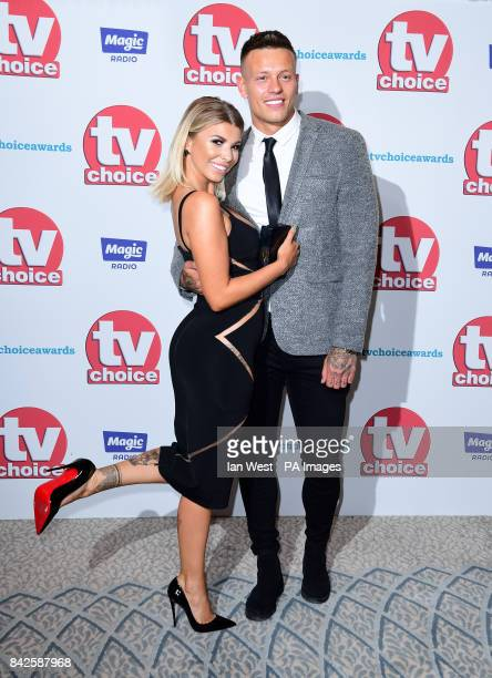 Olivia Buckland and Alex Bowen attending the TV Choice Awards 2017 held at The Dorchester Hotel London PRESS ASSOCIATION Photo Picture date Monday...