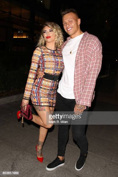 Olivia Buckland and Alex Bowen attending the W7 end of summer glow out party on September 25 2017 in London England