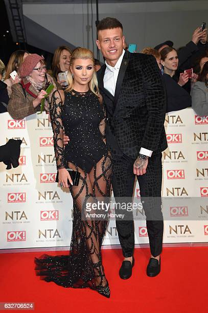 Olivia Buckland and Alex Bowen attends the National Television Awards on January 25 2017 in London United Kingdom