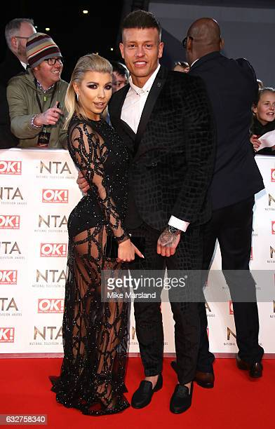 Olivia Buckland and Alex Bowen attends the National Television Awards at The O2 Arena on January 25 2017 in London England