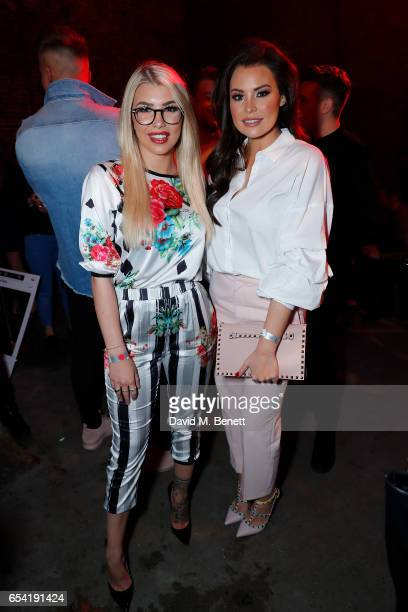 Olivia Buckland and Jessica Wright attend LifetimeÕs launch of BritainÕs Next Top Model airing tonight at 9pm on Lifetime on March 16 2017 in London...
