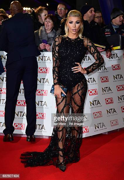 Olivia Buckland arriving at the National Television Awards 2017 held at The O2 Arena London PRESS ASSOCIATION Photo Picture date 25th January 2017...
