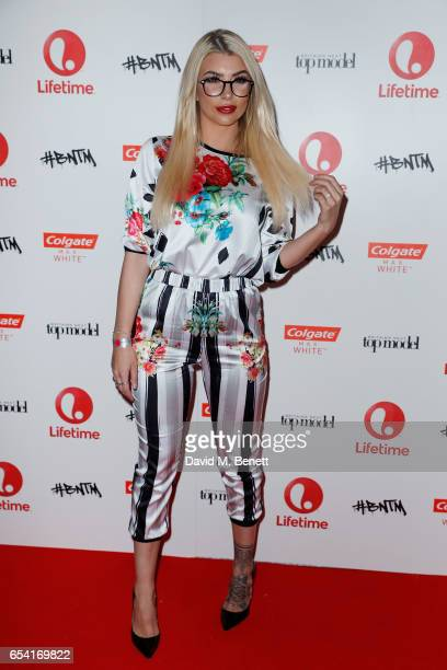 Olivia Buckland attends Lifetime's launch of Britain's Next Top Model airing tonight at 9pm on Lifetime on March 16 2017 in London England