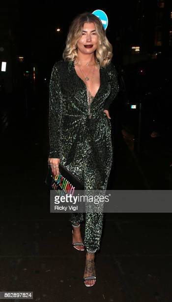 Olivia Buckland attends Tangle Teezer 10th birthday party at Tape London on October 18 2017 in London England