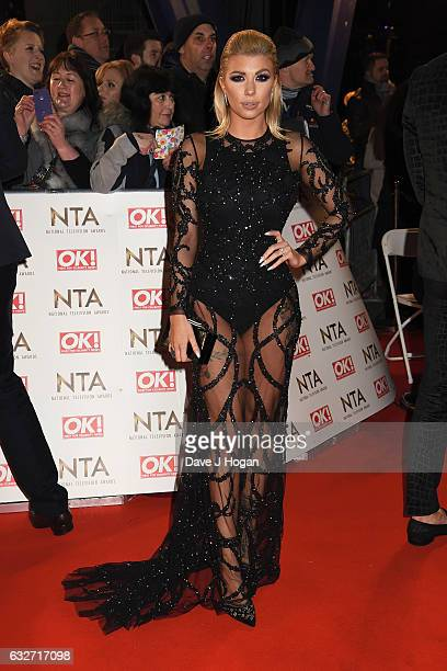 Olivia Buckland attends the National Television Awards at Cineworld 02 Arena on January 25 2017 in London England