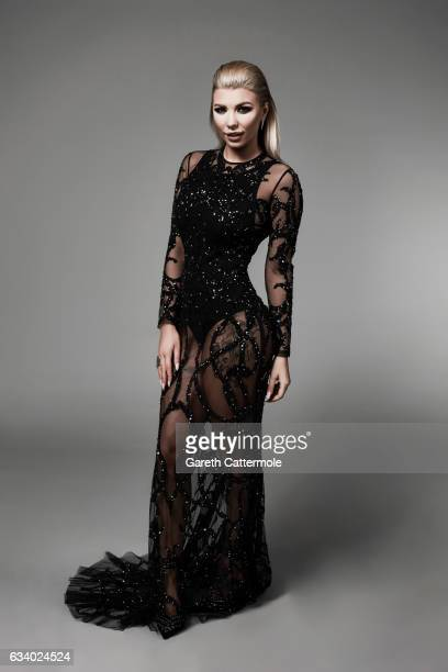 Olivia Buckland attends the National Television Awards Portrait Studio at The O2 Arena on January 25 2017 in London England