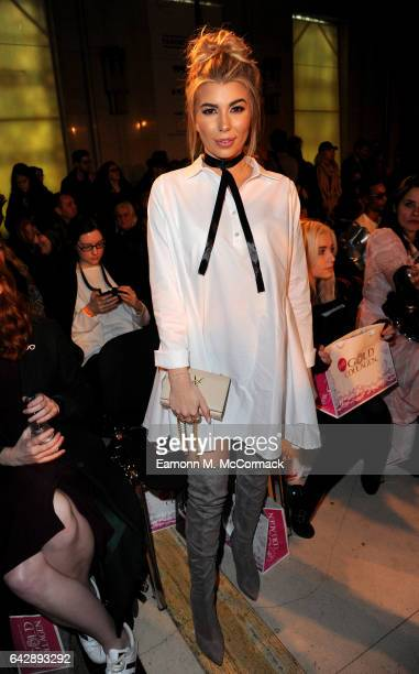 Olivia Buckland attends the Pam Hogg show during the London Fashion Week February 2017 collections on February 19 2017 in London England