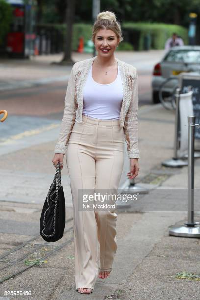 Olivia Buckland seen at the ITV Studios on August 3 2017 in London England