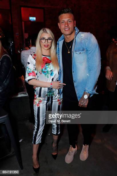 Olivia Buckland with Alex Bowen attends LifetimeÕs launch of BritainÕs Next Top Model airing tonight at 9pm on Lifetime on March 16 2017 in London...
