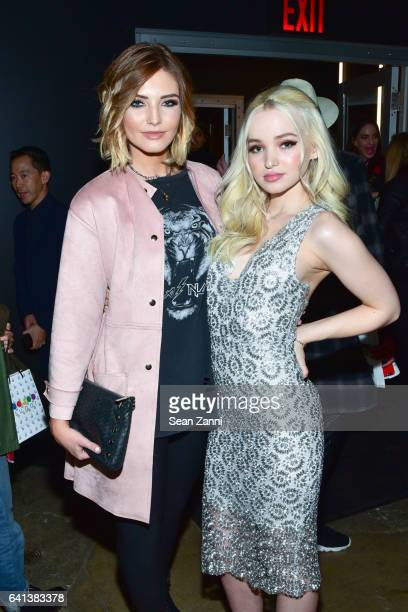 Olivia Caridi and Dove Cameron attend ELLE E And IMG Host New York Fashion Week February 2017 KickOff Event at 40 Bethune Street on February 8 2017...