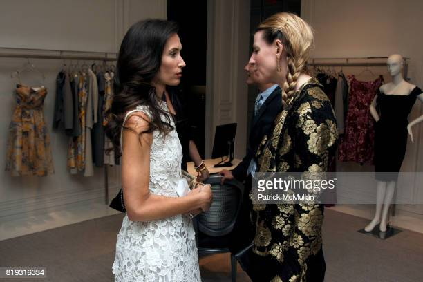 Olivia Chantecaille and Karen Duffy attend SAKS FIFTH AVENUE VALENTINO Host a Dinner to benefit SAVE VENICE at Saks Fifth Avenue on April 14 2010 in...