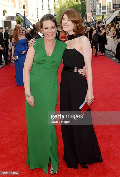 Olivia Colman and Jodie Whittaker attend the Arqiva British Academy Television Awards at Theatre Royal on May 18 2014 in London England