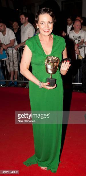 Olivia Colman arrives at the Arqiva British Academy Television Awards after party held at the Grosvenor house Park Lane on May 18 2014 in London...