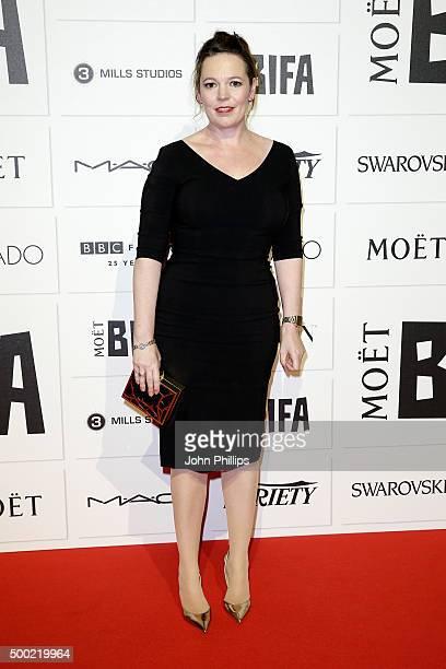 Olivia Colman arrives at The Moet British Independent Film Awards 2015 at Old Billingsgate Market on December 6 2015 in London England