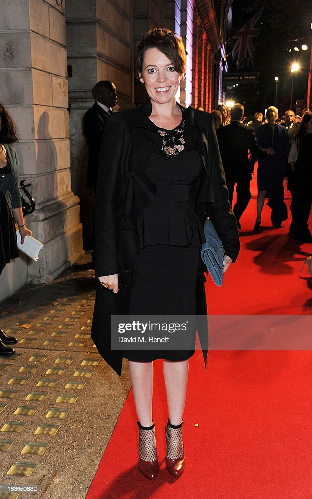 <a gi-track='captionPersonalityLinkClicked' href=/galleries/search?phrase=Olivia+Colman&family=editorial&specificpeople=5153582 ng-click='$event.stopPropagation()'>Olivia Colman</a> attends a BFI Luminous Gala ahead of the London Film Festival at 8 Northumberland Avenue on October 8, 2013 in London, England.
