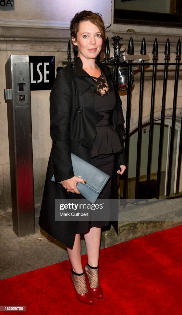 <a gi-track='captionPersonalityLinkClicked' href=/galleries/search?phrase=Olivia+Colman&family=editorial&specificpeople=5153582 ng-click='$event.stopPropagation()'>Olivia Colman</a> attends a gala dinner hosted by the BFI ahead of the London Film Festival at 8 Northumberland Avenue on October 8, 2013 in London, England.