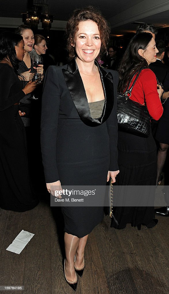 Olivia Colman attends an after party following the London Critics Circle Film Awards at Quince Restaurant, The May Fair Hotel on January 20, 2013 in London, England.