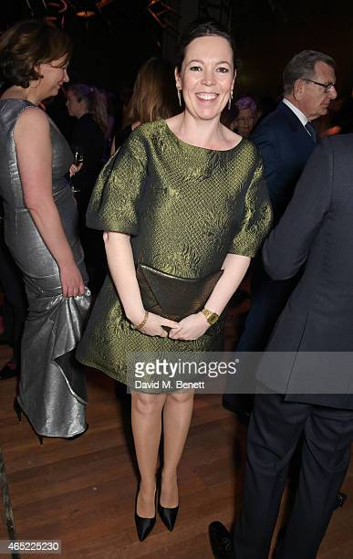 Olivia Colman attends Fast Forward The National Theatre's fundraising gala at The National Theatre on March 4 2015 in London England