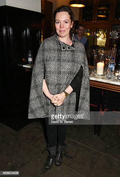 Olivia Colman attends the after party following the press night performance of 'A View From The Bridge' at The National Cafe on February 16 2015 in...