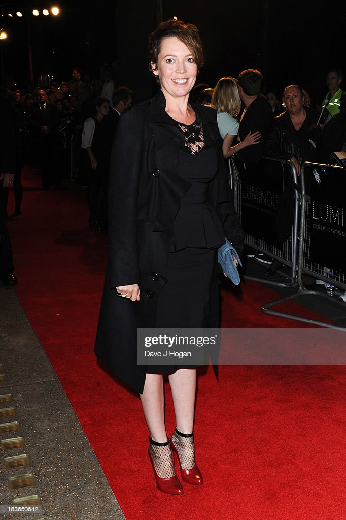 <a gi-track='captionPersonalityLinkClicked' href=/galleries/search?phrase=Olivia+Colman&family=editorial&specificpeople=5153582 ng-click='$event.stopPropagation()'>Olivia Colman</a> attends the BFI Luminous Gala dinner at 8 Northumberland Avenue on October 8, 2013 in London, England.