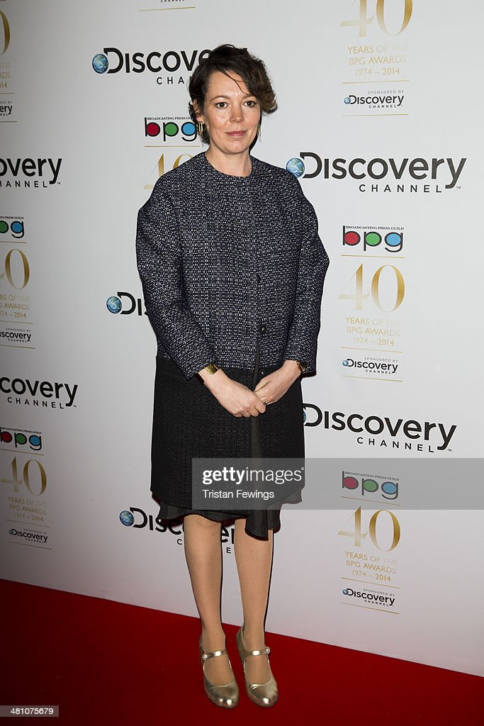 Olivia Coleman attends the Broadcasting Press Guild Awards sponsored by The Discovery Channel at Theatre Royal on March 28, 2014 in London, England.