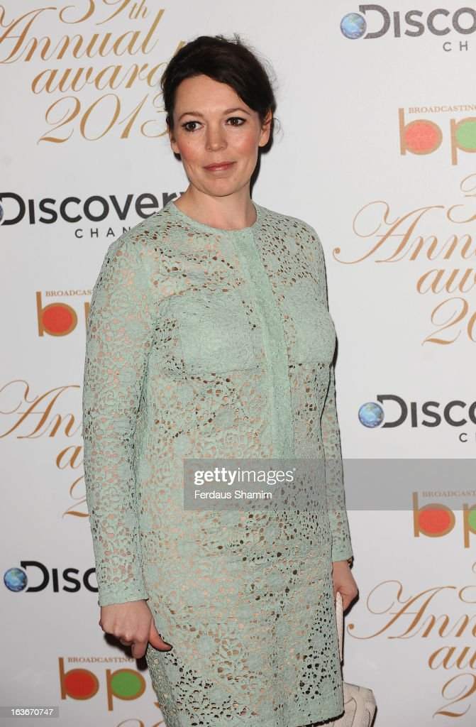 Olivia Colman attends the Broadcasting Press Guild TV and Radio awards on March 14, 2013 in London, England.