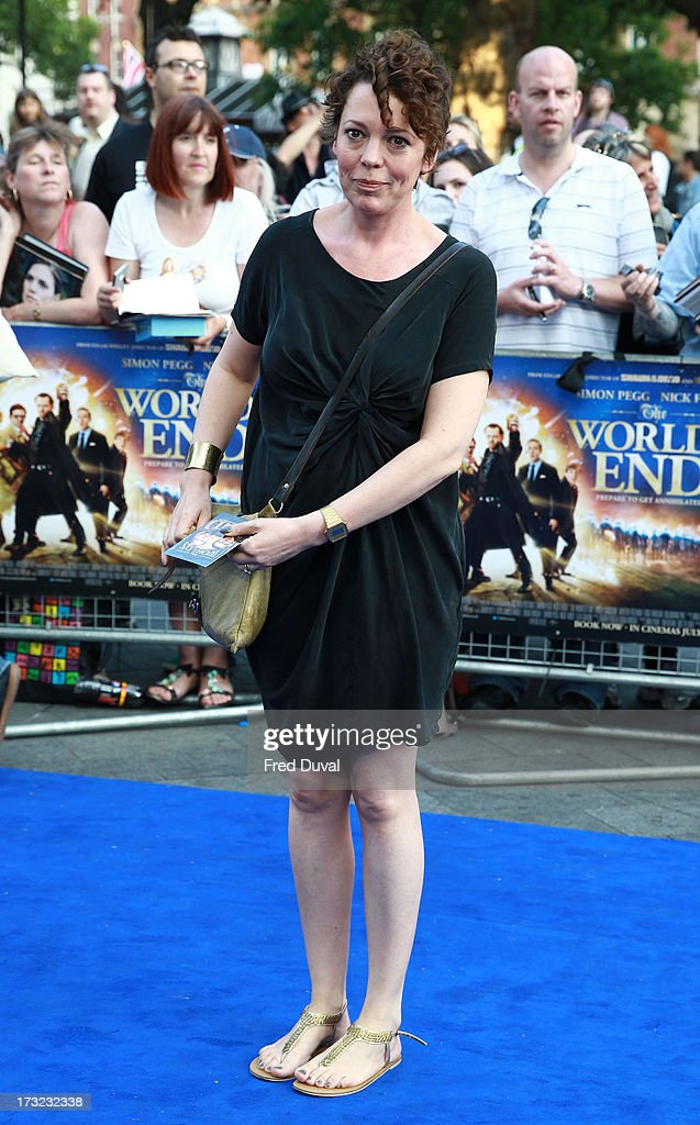 Olivia Colman attends the World film Premiere of 'The World's End' at The Empire Cinema on July 10, 2013 in London, England.