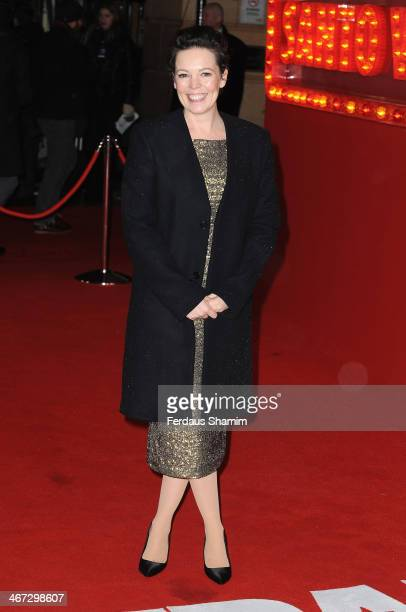 Olivia Colman attends the World Premiere of 'Cuban Fury' at Vue Leicester Square on February 6 2014 in London England