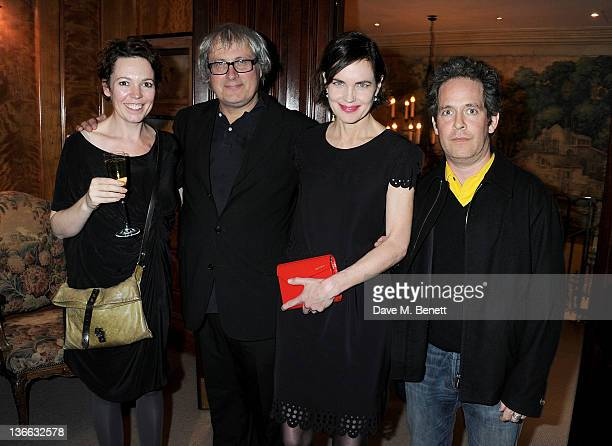Olivia Colman Simon Curtis Elizabeth McGovern and Tom Hollander attend a special screening of 'My Week With Marilyn' hosted by Colin Firth at Covent...