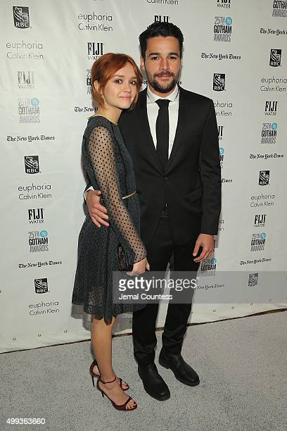 Olivia Cooke and Christopher Abbott attend the 25th IFP Gotham Independent Film Awards cosponsored by FIJI Water at Cipriani Wall Street on November...