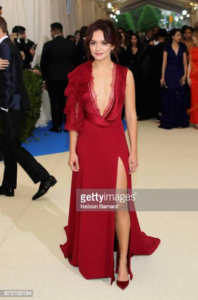 Olivia Cooke attends the 'Rei Kawakubo/Comme des Garcons Art Of The InBetween' Costume Institute Gala at Metropolitan Museum of Art on May 1 2017 in...