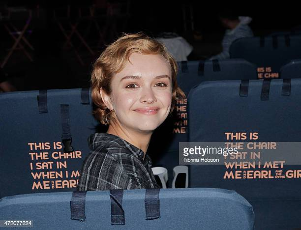 Olivia Cooke attends the Street Food Cinema and Fox Searchlight Pictures sneak peek of 'Me and Earl and the Dying Girl' at Exposition Park on May 2...