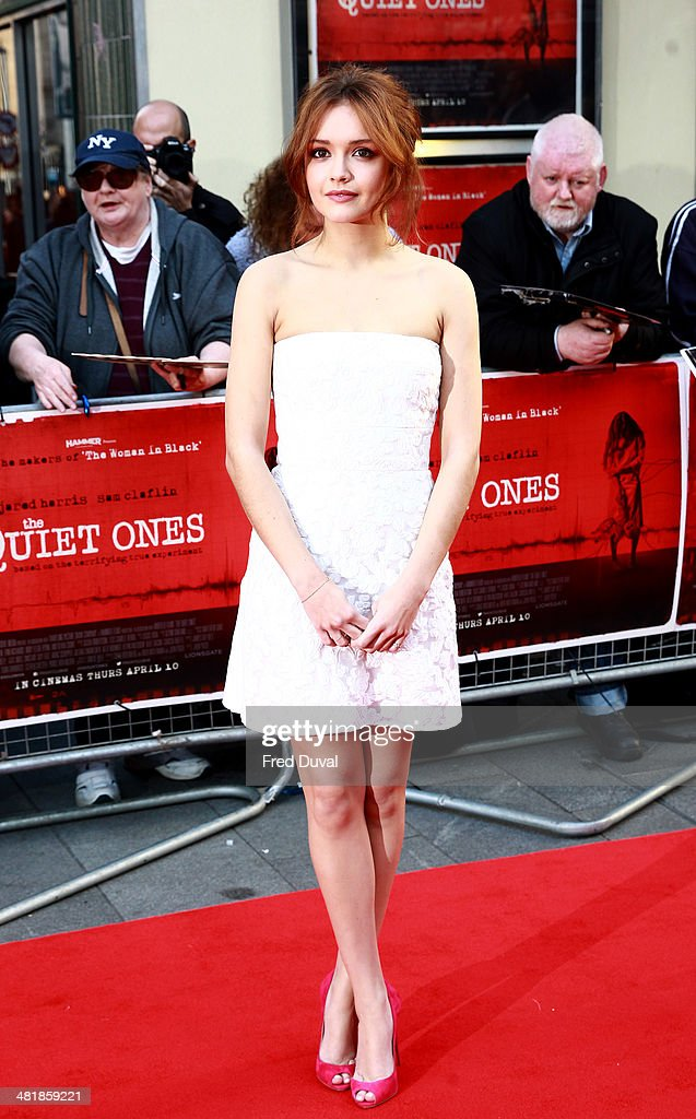 <a gi-track='captionPersonalityLinkClicked' href=/galleries/search?phrase=Olivia+Cooke&family=editorial&specificpeople=10104216 ng-click='$event.stopPropagation()'>Olivia Cooke</a> attends the UK film premiere of 'The Quiet Ones' at Odeon West End on April 1, 2014 in London, England.