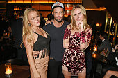 Olivia Cooney Spencer Matthews and Kimberley Garner attend the launch of new restaurant German Gymnasium on November 12 2015 in London England