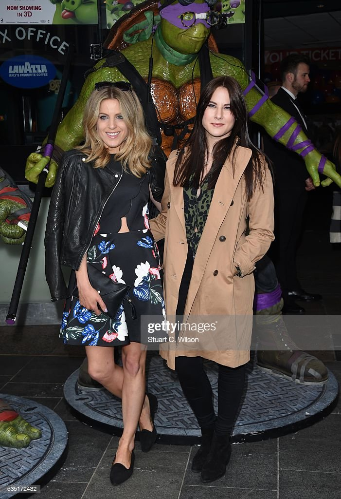 Olivia Cox and Kat Shoob arrive for the gala screening of 'Teenage Mutant Ninja Turtles: Out Of The Shadows' at Vue West End on May 29, 2016 in London, England.
