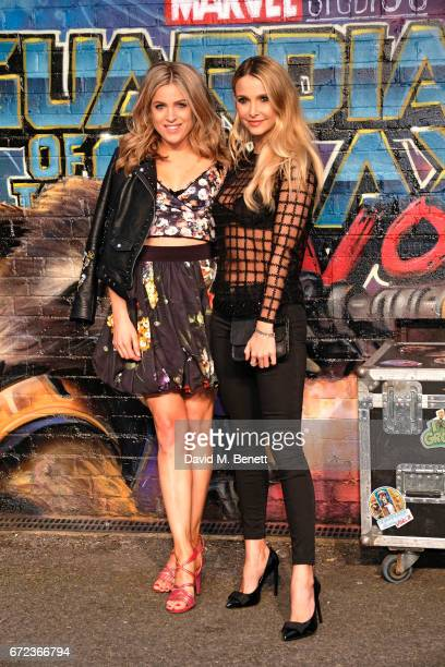 Olivia Cox and Sophie Hermann attend the European Gala screening of 'Guardians of the Galaxy Vol 2' at the Eventim Apollo on April 24 2017 in London...