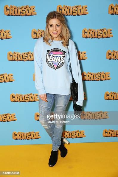 Olivia Cox attends a VIP screening of 'Robinson Crusoe' at the Vue West End on April 3 2016 in London England