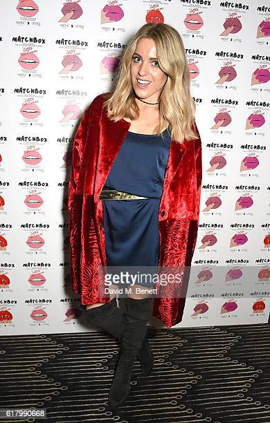 Olivia Cox attends as Lottie Tomlinson hosts a party to launch her collection Nails Inc X Lips Inc Matchbox collection at Tape London on October 25...