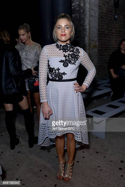 Olivia Cox attends the Julien Macdonald show during London Fashion Week September 2017 on September 18 2017 in London England
