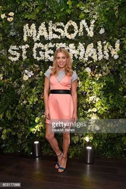 Olivia Cox attends the Maison StGermain opening night at 2 Soho Square on July 26 2017 in London England